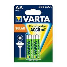 2x Varta 56736 Akku-Batterie NiMh für Solarleuchten Mignon AA 800 mAh