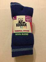 Thermal Socks Shoes Size Medium 10.5-4 Wool Blend Charcoal Royal
