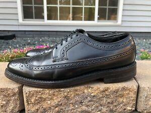 Men's Florsheim Imperial Black Leather Wingtip Dress Shoes Size 8.5 D