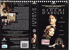 GIOCHI D'ADULTI (1992) vhs ex noleggio
