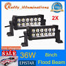 2X 8INCH 36W LED WORK LIGHT BAR FLOOD OFFROAD LAMP 4WD BOAT ATV DRIVING SUV HOTT
