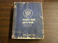OEM 1940 - 1967 Buick Master Body Parts Book Riviera Skylark LeSabre Wildcat
