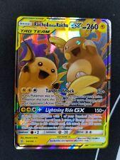 Raichu & Alolan Raichu Tag Team GX 54/236 Unified Minds Card Ultra Rare NM