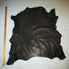 Unique Dark Swamp Green Distressed Goatskin Leather Hide Garments
