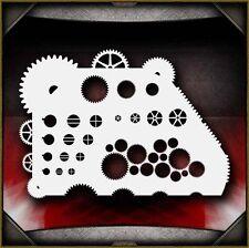 """Gear Master"" Airbrush Stencil Template Airsick"