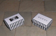 TWO 1/12TH SCALE HAND-MADE DOLLS' HOUSE SHOE BOXES