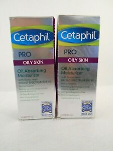 LOT OF 2 New Cetaphil Pro Oil Absorbing Moisturizer For Oily Skin SPF 30