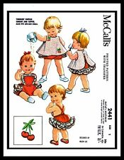 McCall's 2441 Helen Lee Sewing Pattern Ruffled PlaySuit DRESS Toddler ~1~ DOLL
