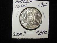 1960 AUSTRALIA FLORIN SUPER NICE GEM!!!!!