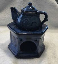 Blue Ceramic Teapot Incense Burner