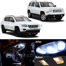 6x White Interior LED Lights Package Kit for 2007-2017 Jeep Patriot & Compass MP