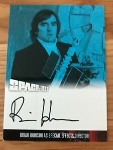 SPACE 1999 SERIES 4: AUTOGRAPH CARD: BRIAN JOHNSON - SPECIAL EFFECTS BJ2