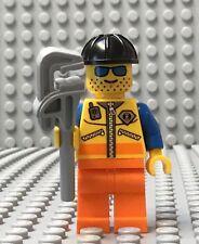 LEGO Cell Tower Oil Rig Platform Builder Worker Bridge Iron Worker Construction