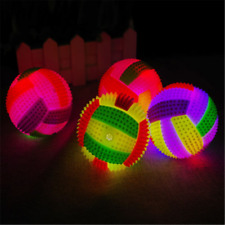 Flashing LED Volleyball Light Up Colors Changing Bouncing Hedgehog Ball Dog Toys