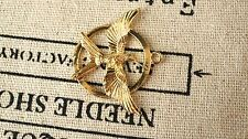 Hummingbird 3 gold charms vintage style jewellery supplies C196
