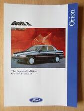 FORD ORION QUARTZ II 1992 UK Mkt sales leaflet brochure - 2