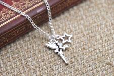 peter pan Tinker Bell necklace Tinker Bell fairy star charm inspired Neckace