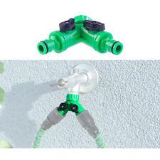 Schlauch-Verteiler: 2-Wege-Wasserhahn-Adapter mit 2 Ventilen für Gartenschläuche