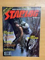 NOV 1980 STARLOG MAGAZINE #40 SCI-FI - STAR WARS MARK HAMILL INTERVIEW