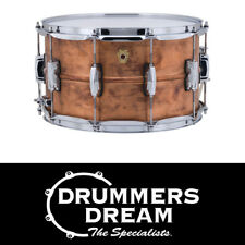 """NEW Ludwig USA CopperPhonic 14x8"""" Snare Drum Raw PATINA Copper Finish LC663"""