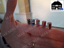 Calico Critters, Epoch Sylvanian scale. 5 pcs miniature can. Artisan handmade.