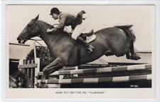 "MISS PAT SMYTHE ON ""FLANAGAN"": Showjumping postcard (C34336)"
