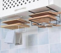 Iron Rack Kitchen Storage Shelf Stand Dish Towel Holders Organizer Accessories