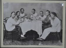 1900 CHINA CHINESE PHOTO ALBUMEN OF DINER TABLE FOOD
