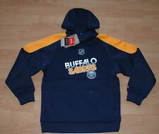 BUFFALO SABRES REEBOK HOODIE JACKET YOUTH SMALL - THERMABASE EMBROIDERED