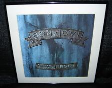 "BON JOVI New Jersey (Framed Original 1988 U.S. ""In-Store"" Promo Flat)"