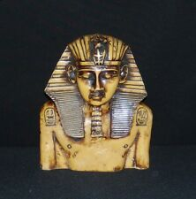 EGYPTIAN Bust of KING TUT ~ Hand Carved SOAP STONE Statue Sculpture FIGURINE