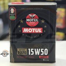 2 Litri Olio Motore MOTUL 2100 15W50 per Auto Epoca successive al 1970 Semisint
