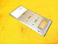 ***NEW*** MULBERRY 97465 5-GANG STAINLESS FINISH PLATE (4) SWITCH (1) GFI DECORA