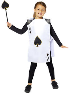 Childs Playing Card Costume Tabard Fancy Dress Book Week Day Alice In Wonderland