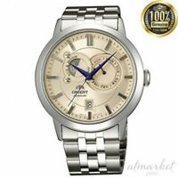 ORIENT SET0P002W0 Watch Sun Moon Men's Silver Band genuine from JAPAN
