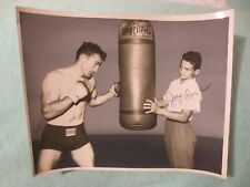 """ORIGINAL1950'S 8""""X10"""" PHOTO CARMEN BASILIO & YOUNGER BROTHER JOEY-SIGNED BYJOEY"""