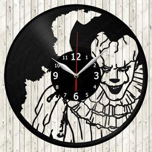 It Pennywise Vinyl Record Wall Clock Decor Handmade 7113