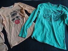 MEXX Zwei coole LG Shirts aprikot+grün Gr.XXL 152