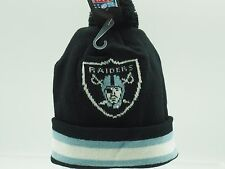 Infant Knit Oakland Raiders Hat and Mittens Set