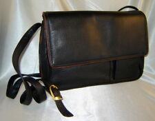 ECHTES LEDER Black/Brown Soft Pebbled Leather Cargo Handbag Purse w/ Wallets NEW