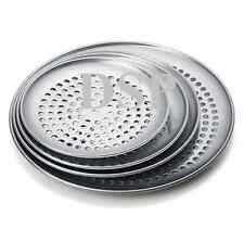 """Perforated Thin Crust Aluminum Pizza Pan  Size 7"""" to 20"""" Heavy Duty Pan"""