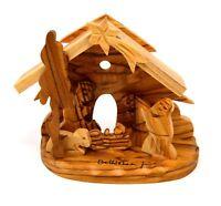 Bethlehem olive wood Christmas Nativity ornaments from Israel Holy Land NEW