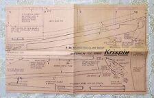 """Krispie"",vintage 36inch restricted Class yacht"