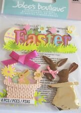JOLEE'S BOUTIQUE EASTER CHOCOLATE BUNNIES Scrapbook Craft Stickers Embellishment
