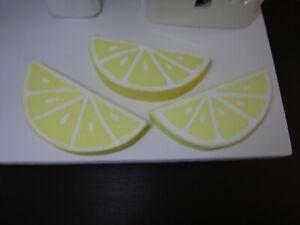 Handmade Wood Lemon Slices 3 piece set Tiered Tray Décor Farmhouse Style Lemons