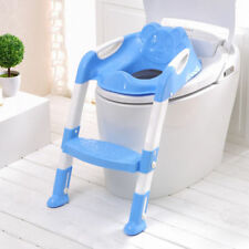 Teddie Kids Toddler Potty Training Toilet Seat & Step Ladder Non Slip Safe Blue