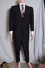 Vintage '60s Manstyle 2 piece suit black pinstripe 2 button Mod 40 35X25.5