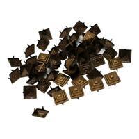 100 Stück Pyramidennieten 12x12mm CJ-079 Ziernieten, Pyramiden Nieten
