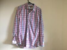 WITCHERY MAN - Men's s Long Sleeve Checked Shirt - Size M - 100% Cotton