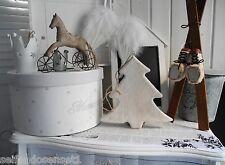 Weihnachtsbaum weiß Holz Tannenbaum Baum Tanne Holzanhänger Anhänger shabby chic